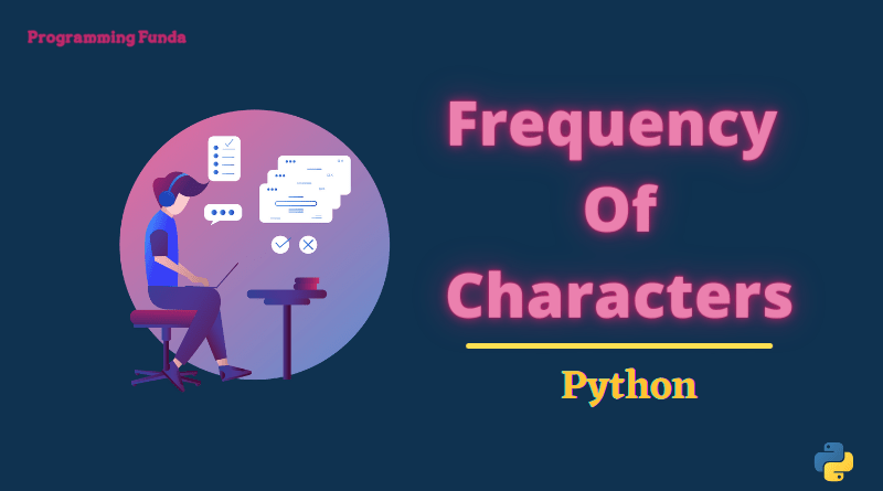 Frequency of characters in a string in Python