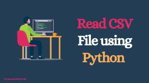 Read CSV files in Python