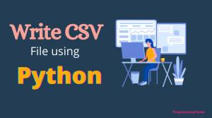 Write CSV files in Python