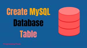 create mysql table