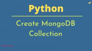 Create MongoDB Collection using Python
