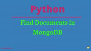 Python MongoDB Find Document