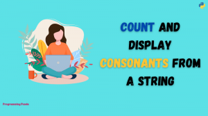 count and display consonants from a string
